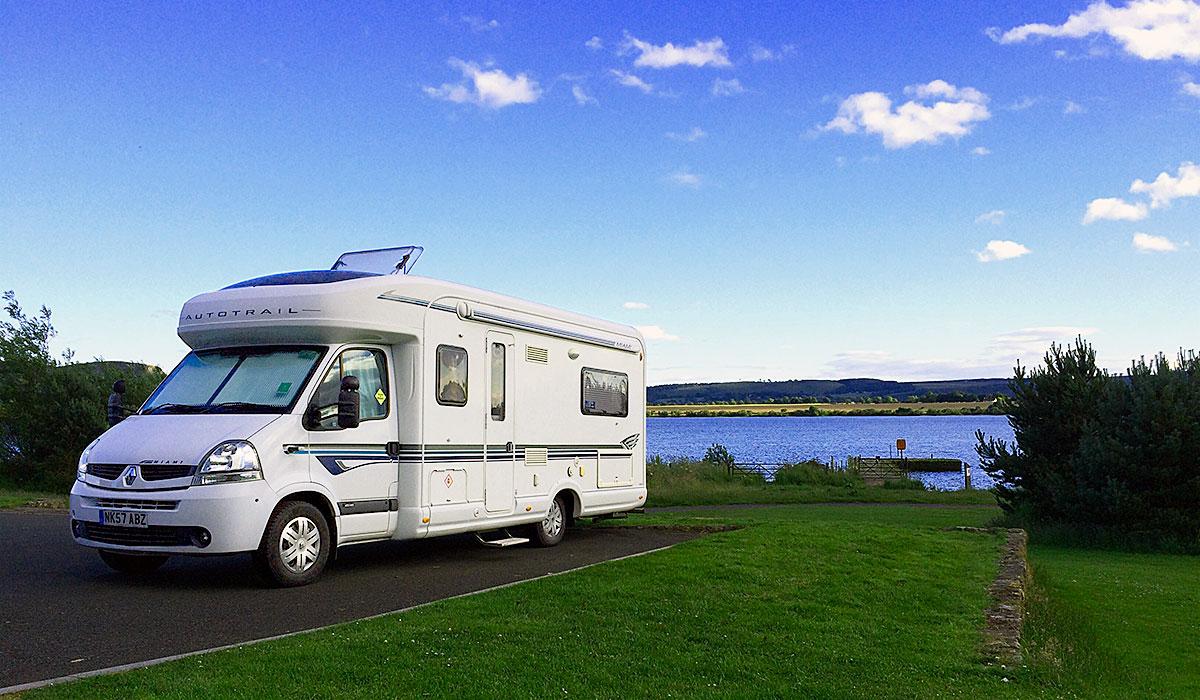 Motorhome Parking at Loch Leven
